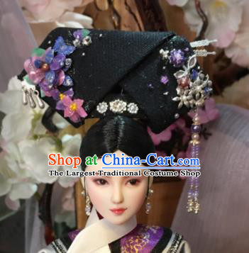 Chinese Ancient Qing Dynasty Imperial Consort Headwear Traditional Palace Manchu Hair Accessories for Women