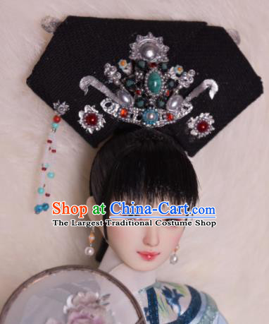 Chinese Ancient Imperial Consort Headwear Traditional Qing Dynasty Palace Manchu Hair Accessories for Women