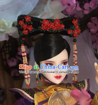 Chinese Ancient Court Lady Headwear Traditional Qing Dynasty Palace Manchu Hair Accessories for Women