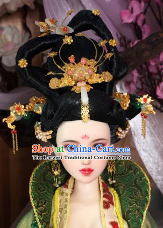 Chinese Tang Dynasty Empress Headwear Phoenix Coronet Traditional Palace Hair Accessories for Women