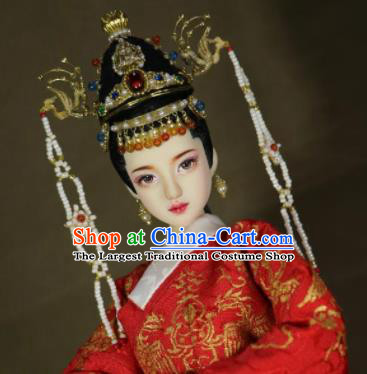Chinese Ancient Ming Dynasty Empress Phoenix Coronet Headwear Hairpins Traditional Palace Hair Accessories for Women