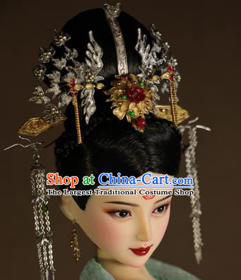Chinese Ancient Imperial Concubine Hairpins Phoenix Coronet Headwear Traditional Tang Dynasty Hair Accessories for Women