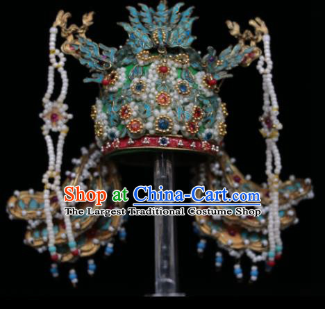 Chinese Ancient Queen Phoenix Coronet Headwear Traditional Ming Dynasty Empress Hair Accessories for Women