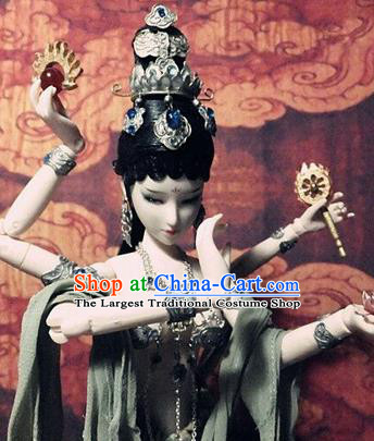 Chinese Ancient Dunhuang Flying Apsaras Hair Crown Hairpins Traditional Hanfu Hair Accessories for Women