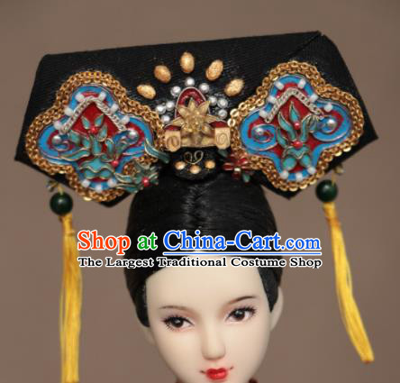 Chinese Ancient Palace Lady Headwear Traditional Qing Dynasty Manchu Princess Hair Accessories for Women