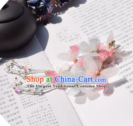 Chinese Ancient Princess Palace Green Butterfly Hair Claw Hairpins Traditional Handmade Hanfu Hair Accessories for Women