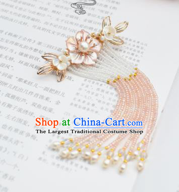 Chinese Ancient Princess Palace Pearls Tassel Hair Claw Hairpins Traditional Handmade Hanfu Hair Accessories for Women