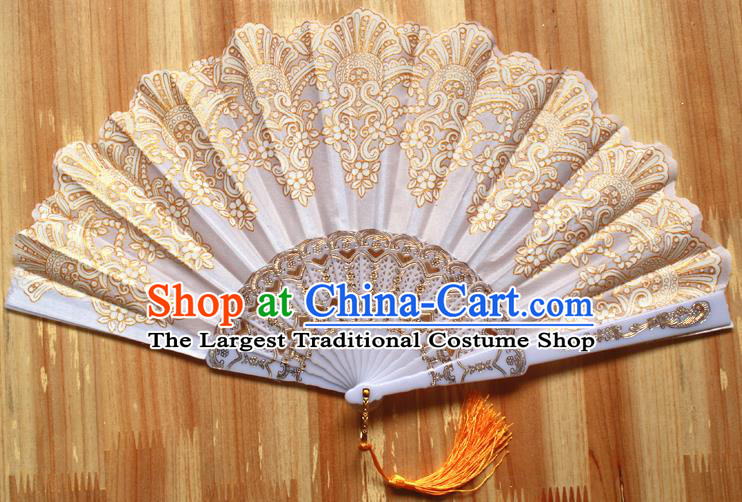 Chinese Handmade Folk Dance Folding Fans Classical Accordion Fan for Women