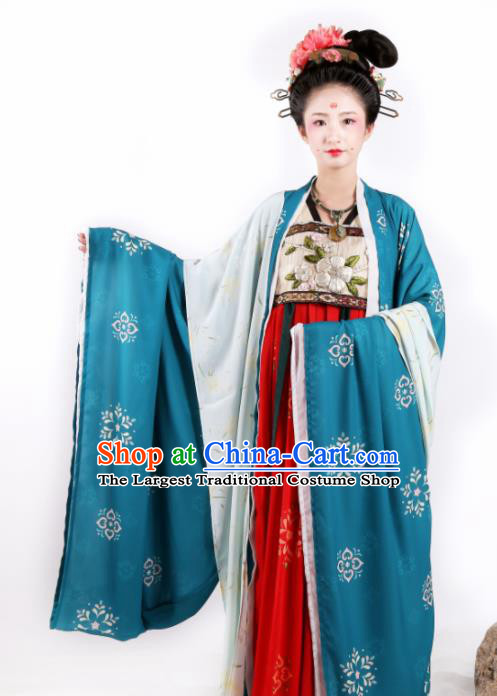 Chinese Ancient Imperial Consort Red Hanfu Dress Traditional Tang Dynasty Palace Embroidered Historical Costume for Women