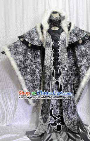 Traditional Chinese Han Dynasty Queen Black Hanfu Dress Ancient Empress Embroidered Costume for Women