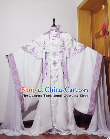 Traditional Chinese Cosplay Queen Hanfu Dress Ancient Swordswoman Embroidered Costume for Women
