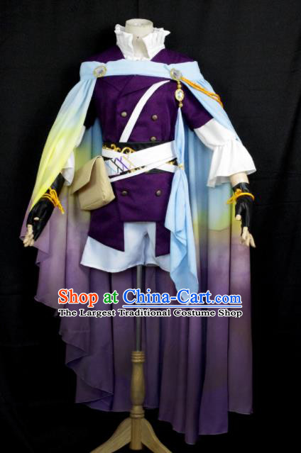 Traditional Chinese Cosplay Clothing Ancient Swordsman Prince Embroidered Costume for Men