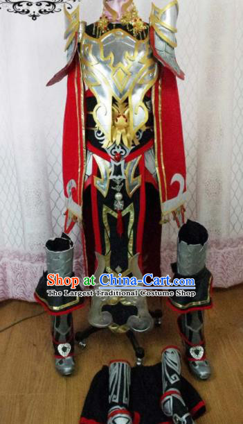 Traditional Chinese Cosplay General Armour Clothing Ancient Swordsman Embroidered Costume for Men