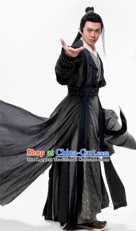 Chinese Ancient Swordsman Drama Heavenly Sword Dragon Slaying Saber Knight Cheng Kun Historical Costume for Men