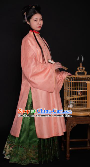 Chinese Ancient Ming Dynasty Palace Princess Hanfu Dress Traditional Court Lady Embroidered Historical Costume for Women