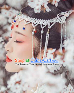 Chinese Handmade Hanfu Palace Hairpins Pearls Hair Clasp Traditional Ancient Princess Hair Accessories for Women