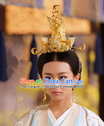 Handmade Chinese Han Dynasty Court Hairpins Traditional Hanfu Phoenix Coronet Ancient Queen Hair Accessories for Women