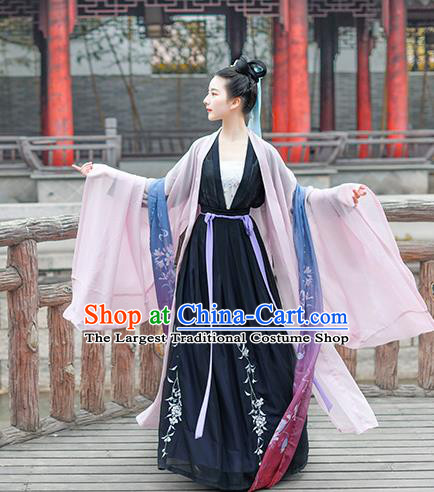 Chinese Ancient Embroidered Hanfu Dress Traditional Tang Dynasty Imperial Consort Historical Costume for Women