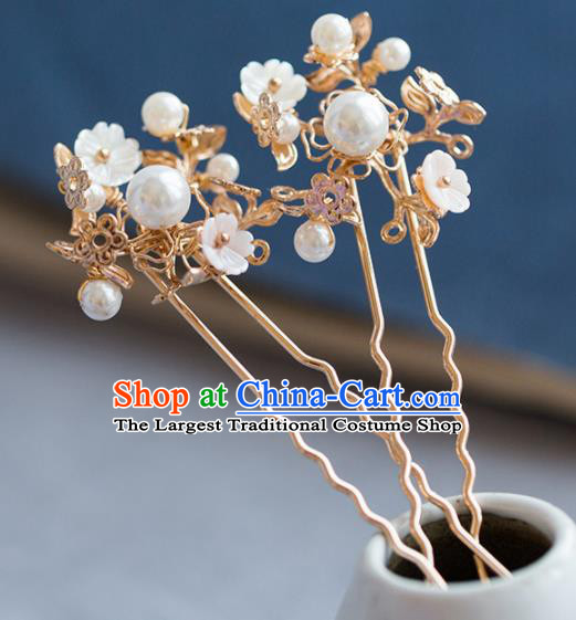 Chinese Handmade Palace Golden Hairpins Ancient Princess Hair Accessories Headwear for Women