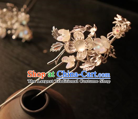 Chinese Handmade Hanfu Opal Hairpins Ancient Palace Princess Hair Accessories Headwear for Women