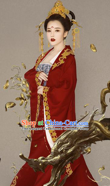 Chinese Ancient Imperial Empress Hanfu Dress Traditional Tang Dynasty Court Queen Historical Costume for Women