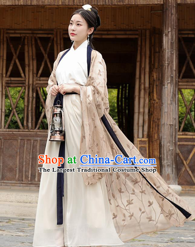 Chinese Ancient Imperial Consort Hanfu Dress Jin Dynasty Nobility Lady Princess Historical Costume for Women