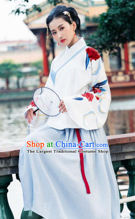 Ancient Chinese Ming Dynasty Nobility Lady Historical Costume Traditional Hanfu Dress for Women
