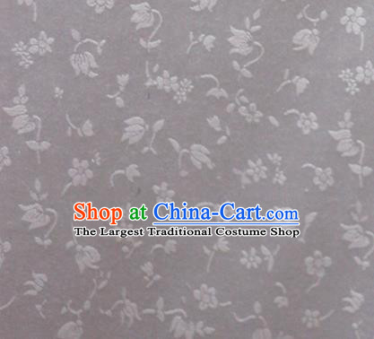 Chinese White Brocade Classical Tulip Pattern Design Satin Cheongsam Silk Fabric Chinese Traditional Satin Fabric Material