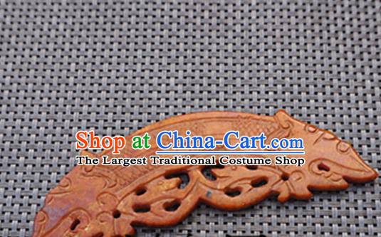 Chinese Ancient Jewelry Accessories Carving Jade Pendant Traditional Handmade Jade Craft Decoration