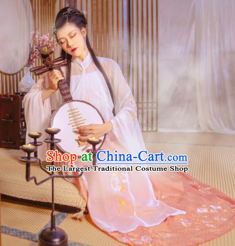 Ancient Chinese Ming Dynasty Nobility Lady Historical Costume Traditional Embroidered Hanfu Dress for Women