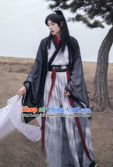 Asian Chinese Jin Dynasty Nobility Childe Historical Costume Ancient Scholar Traditional Hanfu Clothing for Men