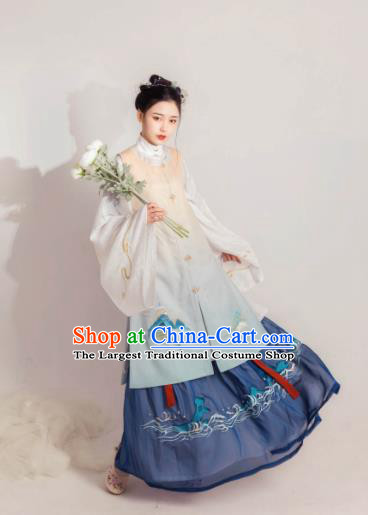Asian Chinese Ming Dynasty Historical Costume Ancient Rich Lady Traditional Hanfu Dress for Women