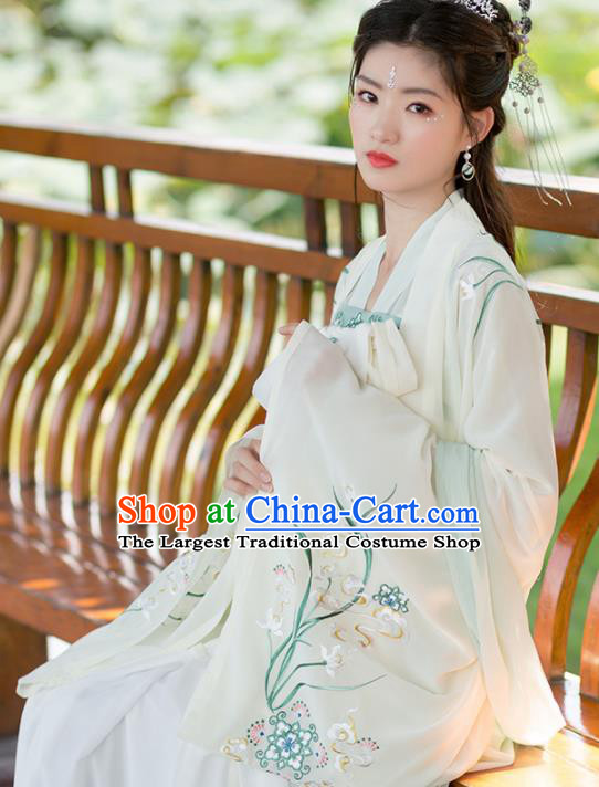 Traditional Chinese Tang Dynasty Hanfu Dress Ancient Peri Princess Embroidered Historical Costume for Women