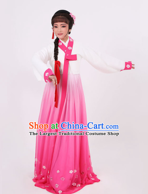 Chinese Traditional Peking Opera Princess Rosy Dress Ancient Palace Lady Embroidered Costume for Women