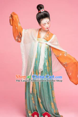 Chinese Ancient Tang Dynasty Las Meninas Hanfu Dress Traditional Court Maid Replica Costume for Women