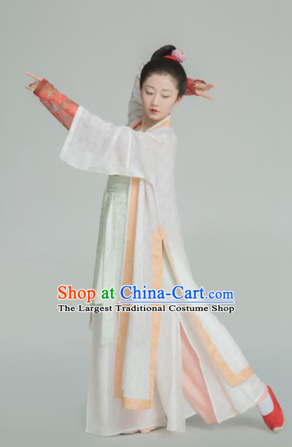 Chinese Ancient Southern Song Dynasty Young Lady Replica Costume Traditional Court Maid Hanfu Dress for Women