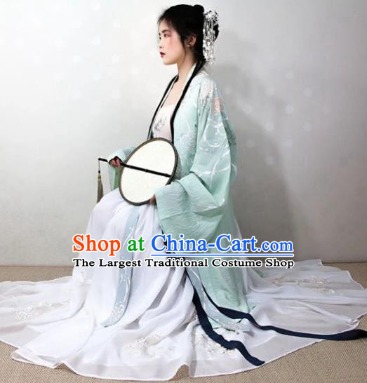 Chinese Traditional Song Dynasty Imperial Concubine Hanfu Dress Ancient Palace Princess Replica Costume for Women