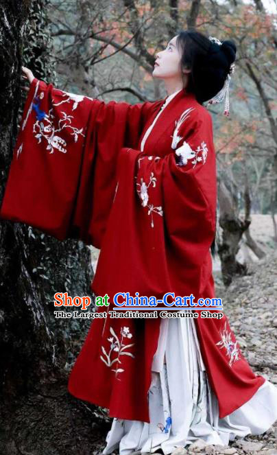 Traditional Chinese Ming Dynasty Palace Princess Hanfu Dress Ancient Court Wedding Replica Costumes for Women