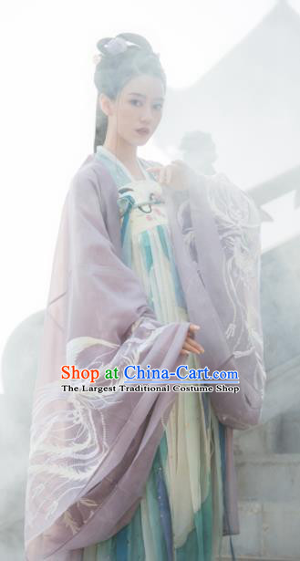 Traditional Chinese Tang Dynasty Princess Hanfu Dress Ancient Flower Goddess Replica Costumes for Women