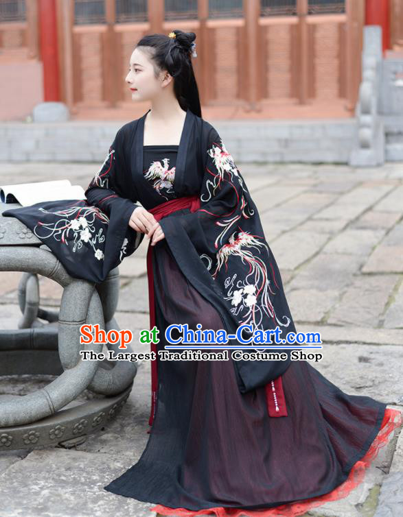 Chinese Ancient Peri Princess Pink Hanfu Dress Antique Traditional Jin Dynasty Court Historical Costume for Women