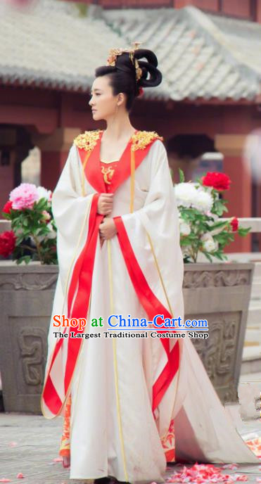 Chinese Ancient Drama The Legend of Deification Shang Dynasty Imperial Consort Su Daji Historical Costume and Headpiece Complete Set