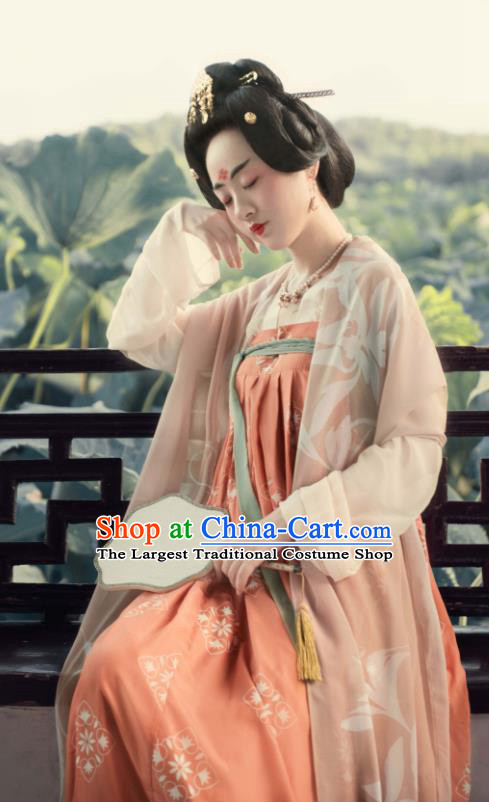 Traditional Chinese Tang Dynasty Court Lady Hanfu Dress Ancient Palace Maidservant Replica Costumes for Women