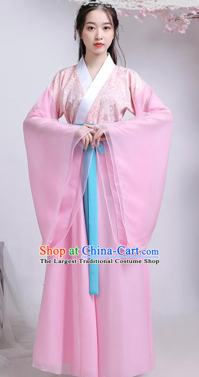 Traditional Chinese Han Dynasty Court Lady Hanfu Dress Ancient Drama Replica Costumes for Women