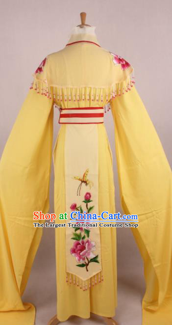 Professional Chinese Beijing Opera Nobility Lady Yellow Dress Ancient Traditional Peking Opera Diva Costume for Women