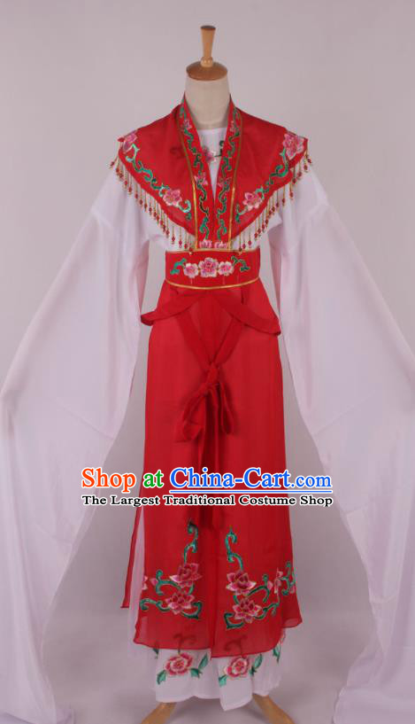 Chinese Traditional Beijing Opera Actress Princess Red Dress Ancient Peking Opera Diva Costume for Women