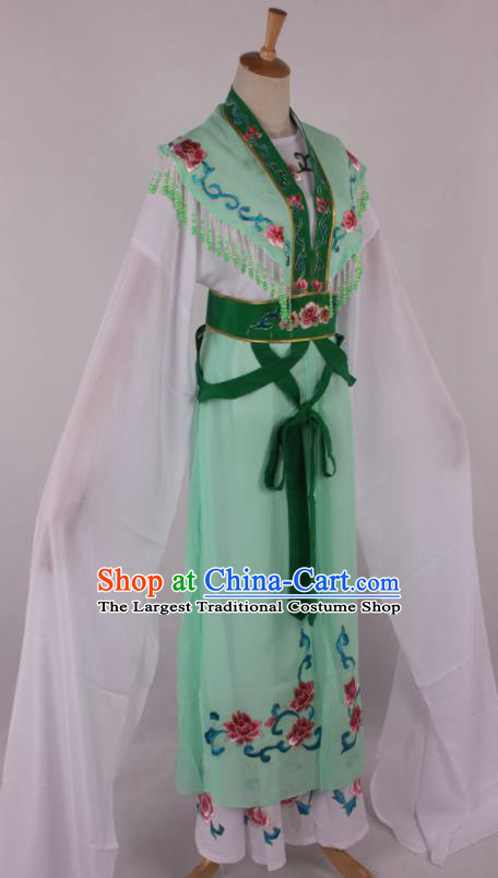 Chinese Traditional Beijing Opera Actress Princess Green Dress Ancient Peking Opera Diva Costume for Women