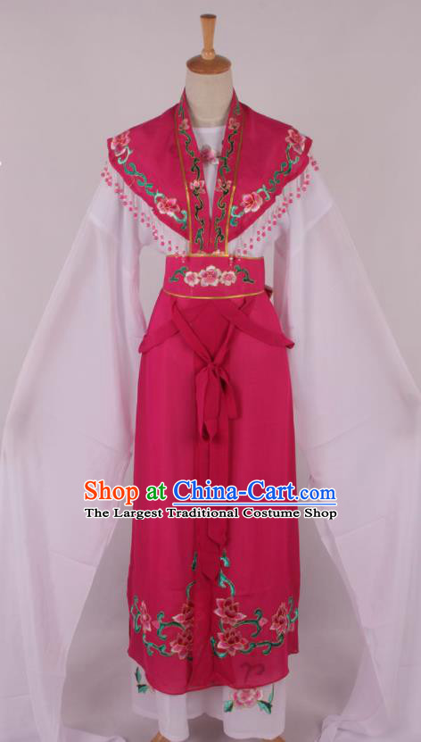 Chinese Traditional Beijing Opera Actress Princess Rosy Dress Ancient Peking Opera Diva Costume for Women