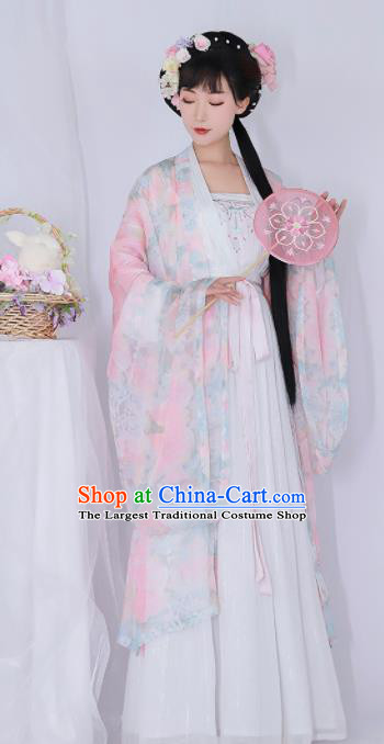 Chinese Ancient Drama Goddess Hanfu Dress Traditional Tang Dynasty Palace Lady Replica Costumes for Women