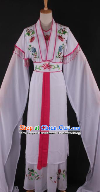 Professional Chinese Beijing Opera White Dress Ancient Traditional Peking Opera Diva Costume for Women