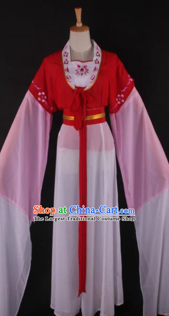 Professional Chinese Beijing Opera Maidservant Red Dress Ancient Traditional Peking Opera Diva Costume for Women